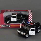 Модель машина джип Hammer H2 Police 2005, металлическая, инерционная kinsmart kt5097wp