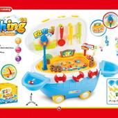 Толокар с игровым набором рыбалка, музыкальный, в коробке 34,8*23,8*23,8 см