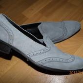 (i163)фирменные кожаные туфли 43 р Италия