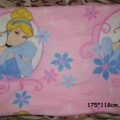 Флисовый плед Disney Princess 175*118см