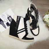 (41р./27см) Jessica Simpson! Замша /кожа! Комфортные стильные сникерсы, хайтопы, ботинки