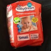 Baby dream новые шикарные подгузники для плавания 4-9кг. 12шт.