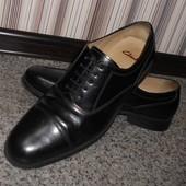 Мужские туфли оксфорды Clarks с отрезным носком р. 44 (30 см)