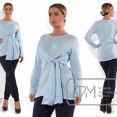 Х7308 Оригинальная блуза 48-54рр 3 цв