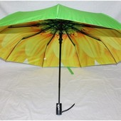 Зонт с двойной тканью купола. Полуавтомат.