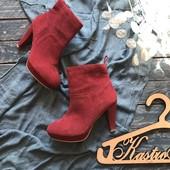 Стильные замшевые ботинки H&M р-р 39