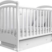 Детская кроватка Верес Соня  с маятником и ящиком. цвет Слоновая кость