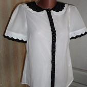 Белая блуза шифон Atmosphere р.8    (ог 88см)