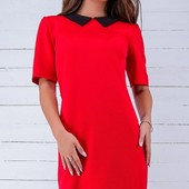 Размеры 42-48 Классическое женское платье