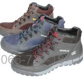 Кожаные ботинки мужские зимние, 3 цвета