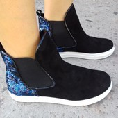 Кожаные ботинки (натуральная кожа) 37р 24 см нові шкіряні чоботи модель 935