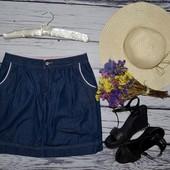 27 S Фирменная джинсовая юбка моднице