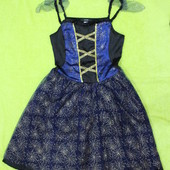 размер xs-s/uk 8-10 , карнавальное платье Паутинка/бабочка