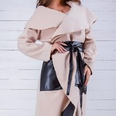 Размеры 42-58 Элегантное женское кашемировое пальто