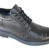 Зимние мужские ботинки антилед, кожа и замша