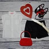 3 - 4 года 98 - 104 см Рубашка блузка блуза для модниц легкая натуральная