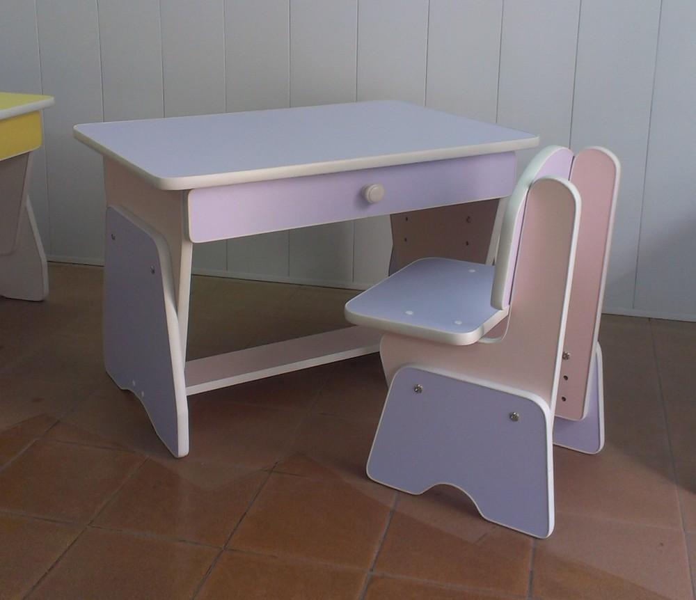 Столик и стульчик с регулировкой высоты. Лаванда/сакура. Николаев фото №1