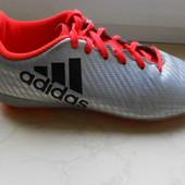 бутсы футбольные, 33 размер, стелька 20,5 см, Adidas, c шипами,