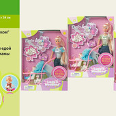 Кукла Defa lucy с ребенком, коляской и аксессуарами, арт. 20958