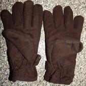 теплые мужские перчатки от Takko .Внутри микрофлис