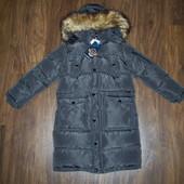 Пальто зимнее на меху для мальчиков 128/134-158/164 Венгрия 2 цвета