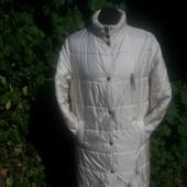 Балоневая куртка- пальто на синтепоне свободного прямого кроя