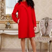 Размеры 44,48 Элегантное женское шерстяное пальто
