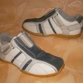 Кожаные туфли Мокасины на широкую ногу Натуральная Кожа