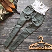 Оливковые чиносы штаны для беременных Gap р-р С