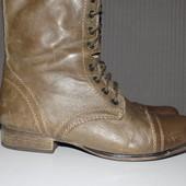 Кожаные фирменные стильные ботинки Steve Madden 38 р кожа везде