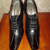 Кожаные женские туфли Maury. 38 размер. На узкую ножку.