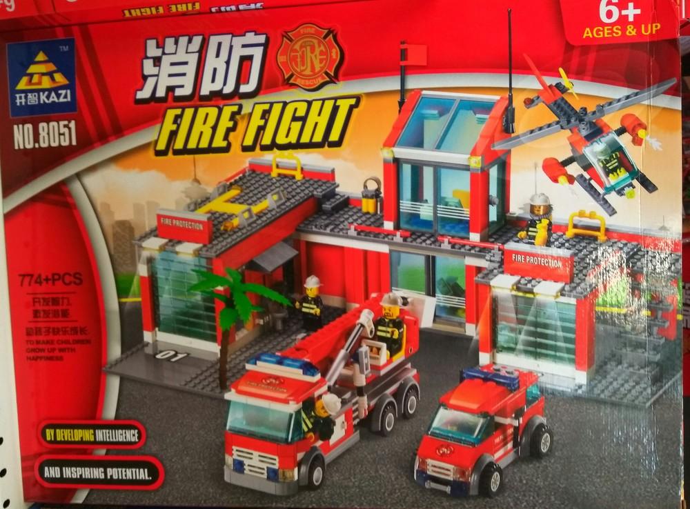 Конструктор kazi 8051 пожарная база,часть,станция, 774 дет. фото №1