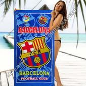 Пляжное полотенце Барселона 70х140 см микрофибра (2280)