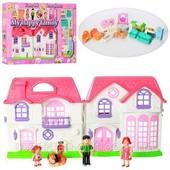 Домик для кукол, кукольный дом (мебель, фигурки, звук),46х24х6см будинок 8032