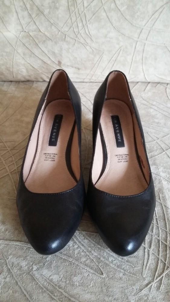 Кожаные туфли фирмы 5th Avenue p. 37 стелька 24 см фото №1