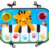 Fisher-Price Пианино для самых маленьких в кроватку kick and play piano