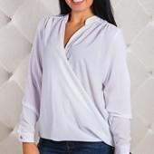 Размеры 50-56 Стильная женская шифоновая блуза