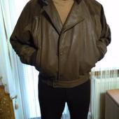Идеальная кожаная куртка на синтепоне Principe,размер L-XL, Пог 67-70 см.