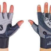 Перчатки атлетические с фиксатором запястья Velo 8121: размер M-XL