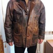 Утепленная кожаная куртка Woodlands стиль гранж Пог-65 см.