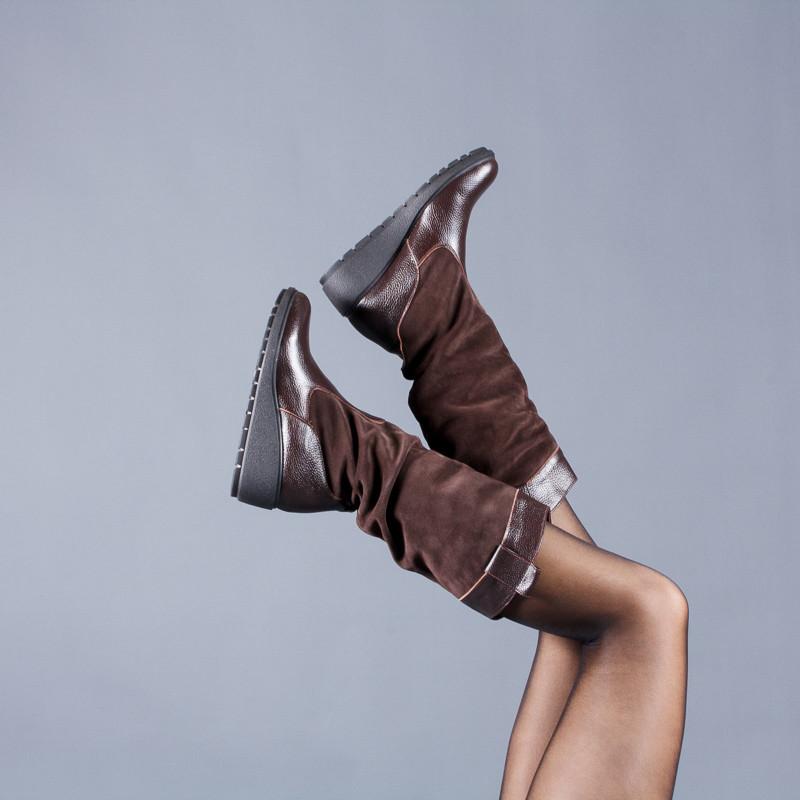 Новинка деми/зима женские кожаные сапоги код лл 859102 фото №1