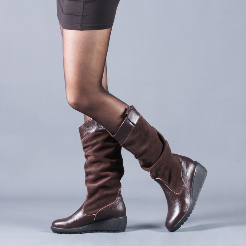 Новинка деми/зима женские кожаные сапоги код лл 859102 фото №2