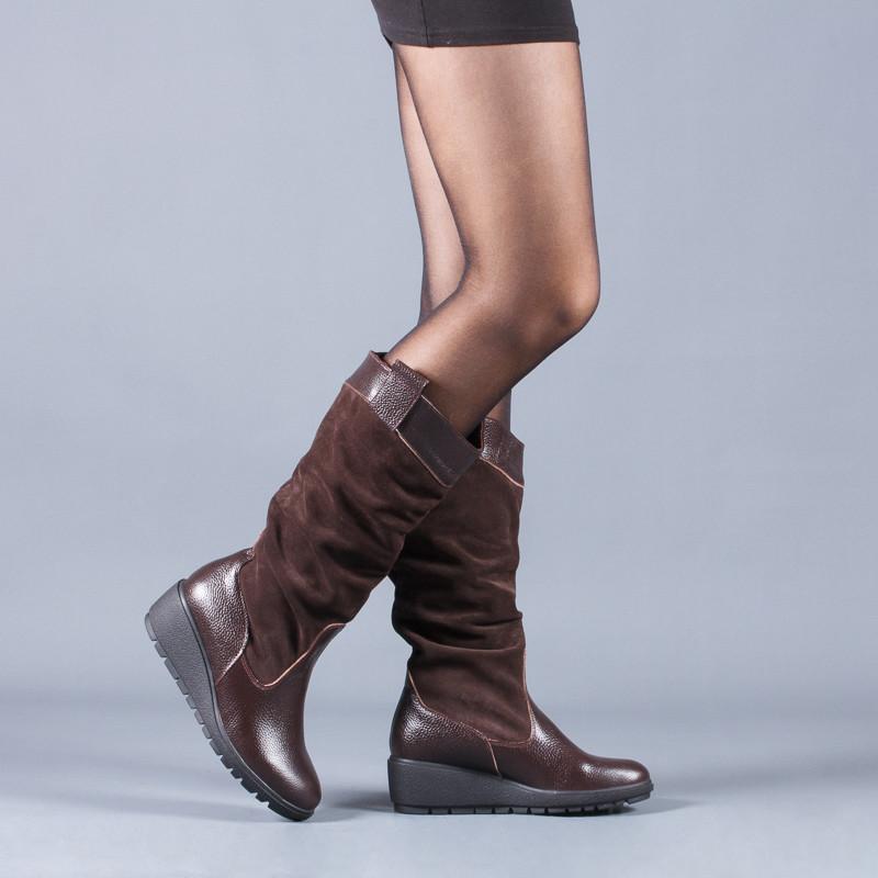 Новинка деми/зима женские кожаные сапоги код лл 859102 фото №3