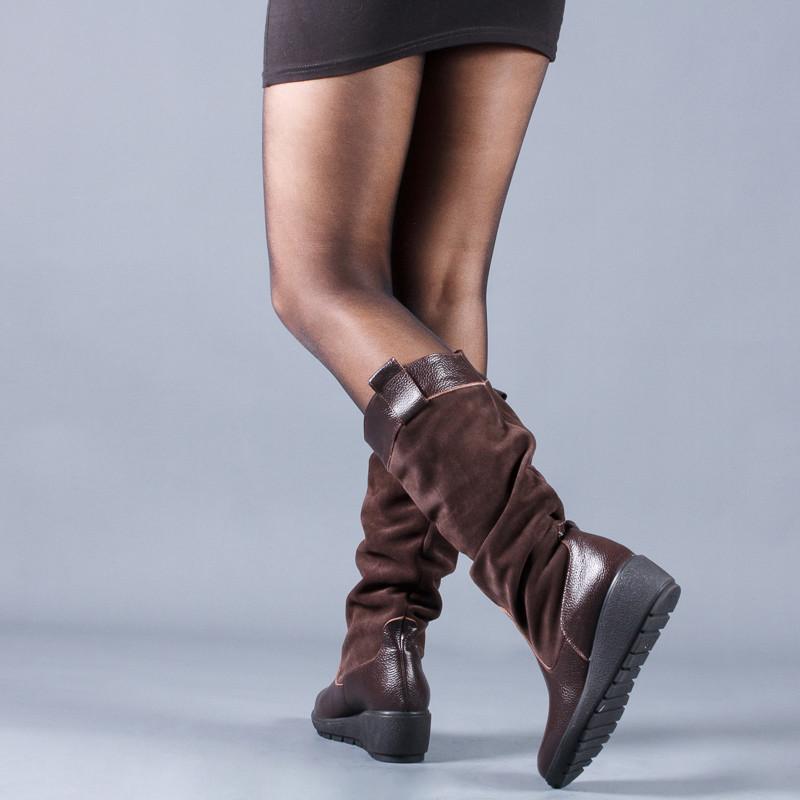 Новинка деми/зима женские кожаные сапоги код лл 859102 фото №4