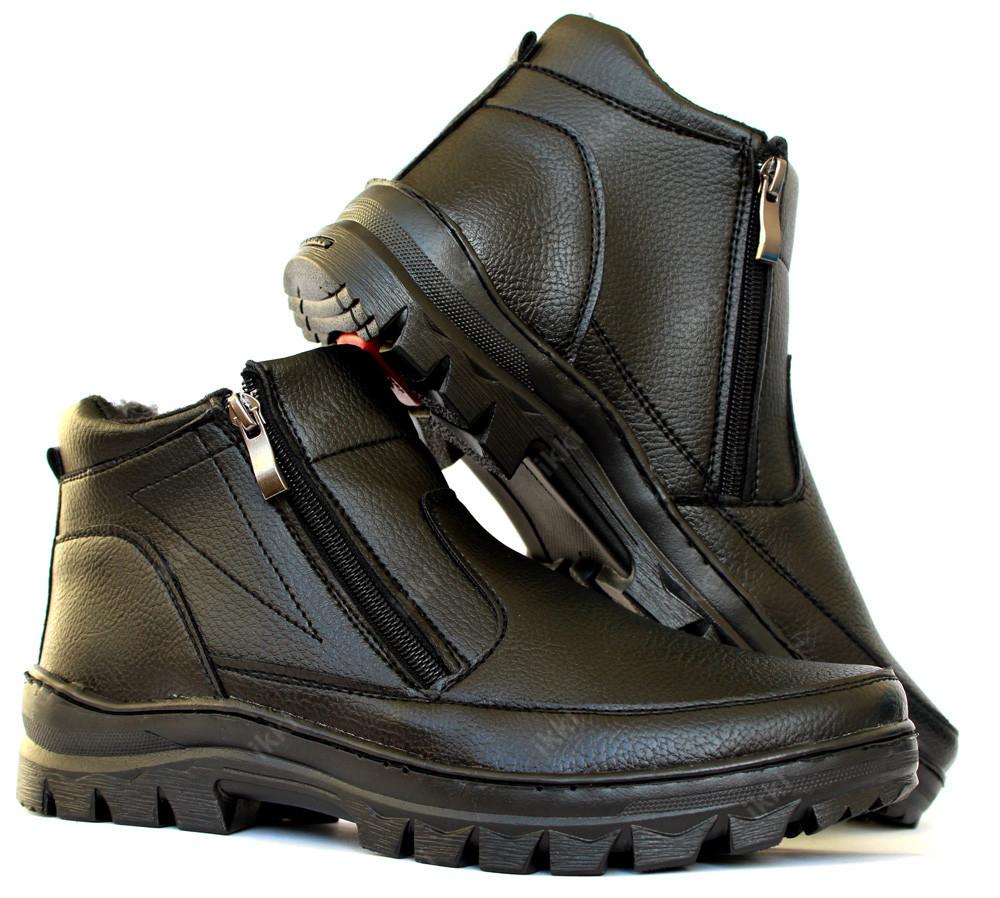 Ботинки мужские на молнию (2 молнии) отличного качества (пб-29ч) фото №1