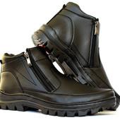 Ботинки мужские на молнию (2 молнии) отличного качества (ПБ-29ч)