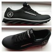Кожаные кроссовки Jordan!Кожа натуральная!Качество супер!Цена снижена!очень классные!последние!