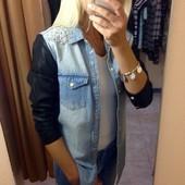 Жакет из плотного джинса р-р С/М!