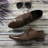 Мужские кожаные ботинки Asos с узким носком и фактурной вставкой  SH4049