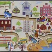 "Бродилка ""Транспорт"", Wooden Toys (555-226)"